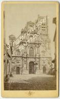 CDV Vers 1880 - AUXERRE église Saint Pierre-photo Maillet Ex Colombier-rue Du Temple-Auxerre - Places