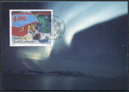 1994 Greenland Christmas Northern Lights Maximum Cards (2) Jul Noel Navidad Weihnachten - Maximum Cards