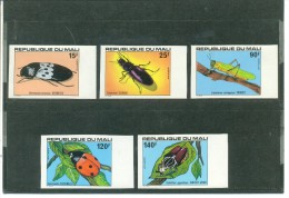 MALI, INSECTS 5 VALUE COMPLETE SET, IMPERFORATE, UNMOUNTED MINT*** - Mali (1959-...)