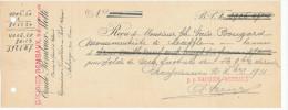 BELGIQUE CARRIERES - Reçu 1911 - Carrières Rembaux à ECAUSSINNES , COMBLAIN AU PONT  -- VV468 - Géologie
