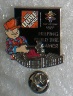 JEUX OLYMPIQUES D'HIVER SALT LAKE 2002 PIN'S A SYSTEME  THE HOME DEPOT          SSS   008 - Olympic Games