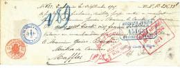 BELGIQUE CARRIERES - Document Financier Via Poste Belge1905 - Carrières Carette Et Piéret à ECAUSSINNES  -- VV472 - Géologie