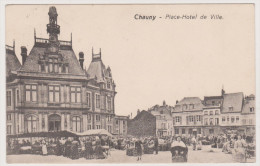 Chauny, Place Hotel De Ville, Regiment 25, Feldpost, Essen, Frankreich, WWI - Chauny
