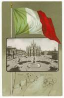 MILANO Vedutina Bandiera Viaggiata 1901 - Milano (Milan)