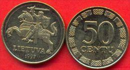 Lithuania 50 Centu 1997 UNC - Litouwen