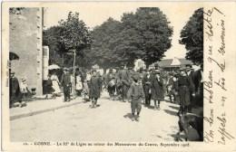 COSNE SUR LOIRE (58) - Militaires Du 85e Régiment D´Infanterie De Ligne Durant Les Manoeuvres Du Centre De 1908. - Cosne Cours Sur Loire