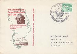 SAMUEL KLEINSCHMIDT, LINGUIST, SPECIAL COVER, 1989, GERMANY - [6] Democratic Republic