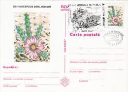 CACTUSSES, PC STATIONERY, ENTIER POSTAL, OBLIT FDC, 5X, 1997, ROMANIA - Sukkulenten