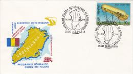 ROMANIAN POLAR RESEARCH PROGRAM, GREENLAND, SPECIAL COVER, 1994, ROMANIA - Forschungsprogramme