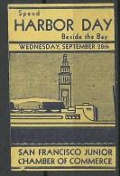 USA Older Vignette Poster Stamp Harbour Day San Fransisco - Vignetten (Erinnophilie)