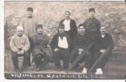 GUERRE 14 18 CARTE PHOTO DE MILITAIRES VICTIMES DE L'ARGONNE - Weltkrieg 1914-18