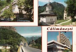 Calimanesti Hotel Central Turnu Viaductul Valea Postei Caciulata Monastery Postcard 148 - Rumänien