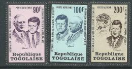 Togo P.A.  N° 208 / 10 XX  10ème Anniversaire De  La Mort Du Président John F. Kennedy, Les 3 Valeur Sans  Charnière, TB - Togo (1960-...)