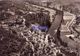 CPSM 10X15 De SAINT CIRQ LAPOPIE    ( 46 ) -  Vue Générale - LA FRANCE VUE DU CIEL ... - France