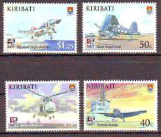 KIRIBATI- HELICOPTERES ET AVIONS - AVIATION NAVAL  -  4 V   NEUF**- CLKR23310609 - Cruz Roja