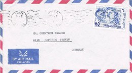 Syria 1998 Postal Cover Damas - Germany Chahba Thalassa 1964 Stamp - Syrie