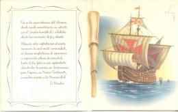 CARABELAS DE CRISTOBAL COLON CARTILLA COLORES ILUSTRADOR C. VIVES CIRCA 1960 RARE COLUMBUS - Historische Figuren