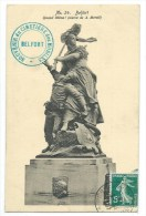 CPA -BELFORT -QUAND MEME ! (oeuvre De A. Mercié) -Territoire De Belfort (90) -Edit. J. B. Schmitt & Fils - Sculture