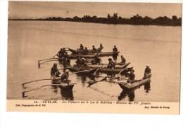 SRI LANKA----CEYLAN--les Pêcheurs Sur Le Lac De Batticloa-missions Des PP Jésuites---voir 2 Scans - Sri Lanka (Ceylon)