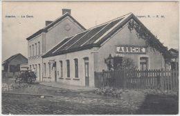 22594g GARE - Charrette � cheval - Assche - 1909