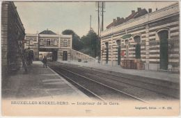 22624g  GARE - QUAI - CHEMIN de FER - Koekelberg - 1906 - coloris�e