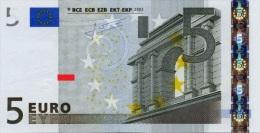 EURO PORTUGAL 5 M TRICHET U008 UNC - EURO