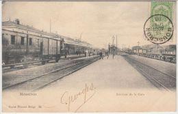 22630g STATIE - GARE - QUAI - CHEMIN De FER - Mouscron - 1906 - Mouscron - Moeskroen