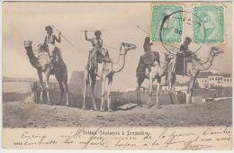 22801g SUEZ -Doldats Soudanais à Dromadère - 1906 - Suez