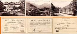 Argelès Gazost - Hôtel Beau Séjour (Cpa Dépliante 3 Volets) - Argeles Gazost