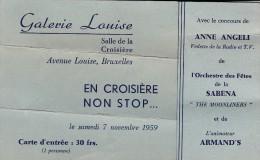 Invitation Fête 6e Unité Scoute B.P. Ste Trinité Scouts Baden Powell 54 Rue De L'aqueduc Galerie Louise Bruxelles 1959 - Programs