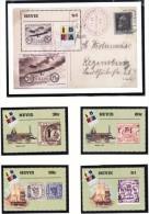 Michel  1423/26 + Bl 170  - cote 10.10  - XX -   IBRA �99  -  stamp on stamp