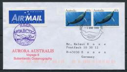 1998 Australia Antarctic AURORA AUSTRALIS Ship Schiffspost Cover - Forschungsprogramme