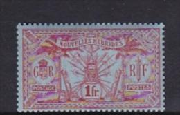 New Hebrides 1912 One France MNH - Nouvelles-Hébrides