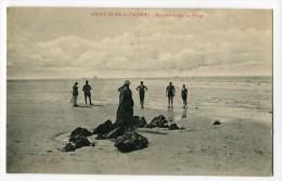 Ref 194 - SAINT-JEAN-le-THOMAS - Baigneurs Sur La Plage (1923) - Altri Comuni