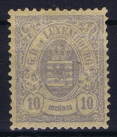 Luxembourg: 1880 Mii Nr 40, Yv 42  MH/*, Has A Horz. Fold At Top