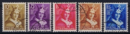 Luxembourg: 1933 Mii Nr 252 - 256 , Yv  244 - 248 Used Obl