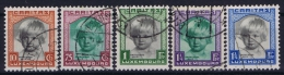 Luxembourg: 1931 Mii Nr 240 - 244 , Yv  234 - 238 Used Obl