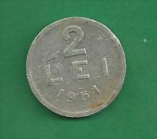 = ROMANIA - 2 LEI - 1951  # 189 = - Rumania