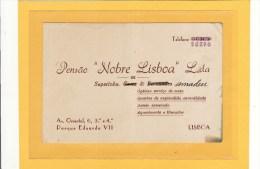 PORTUGAL / LISBONNE / CARTE DE VISITE / Pensão Nobre Lisboa L.da De Sapatinha - Cartes De Visite