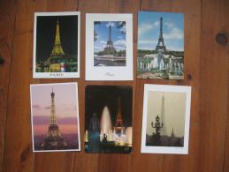 Lot De 12 Cartes De Paris      Tour Eiffel     Notre Dame De Paris     Pont Alexandre III - Postcards