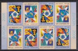 Europa Cept 2006 Azerbaijan 2v Complete Booklet Pane ** Mnh (15609) - Europa-CEPT