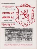 Official Football Programme VALETTA Malta - HONVED Budapest European UEFA Cup 1980 Preliminary Round RARE - Abbigliamento, Souvenirs & Varie