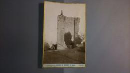 61 - DOMFRONT - Photo Sur Carton -Le Donjon - Photographe P. GALOPIN - Lieux