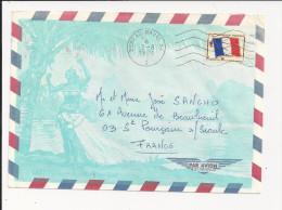 Lettre De France De 1971 - Oblitération De Bureau Naval 64 - Bureau De Marseille Naval - Timbre De FM - Postmark Collection (Covers)
