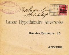 646/22 - Lettre TP Germania - Censure Etappen GENT  En 1916 - Cachet Verstockt , Kandidaat Notaris à VRACENE - Guerra 14 – 18