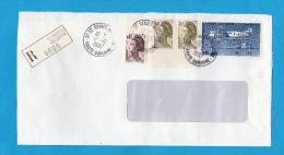 LETTRE REC. N° PA 57 (YT) AVION FARMAN + Liberté DE SAINT GENIEZ BELLEVUE (31) - 1961-....