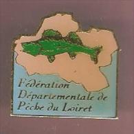 36512-Pin's.Association.f ederation de peche du Loiret.poisson