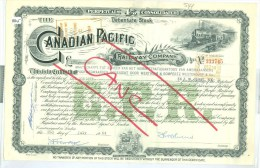 AANDEEL CANADIAN PACIFIC * RAILWAY COMPANY  UIT 1964 * (8845) - Spoorwegen En Trams