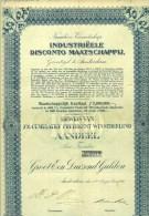 AANDEEL * BEWIJS VAN 7% CUMULATIEF PREFERENT WINSTDEELEND AANDEEL Van FL 1000.00 Uit 1926 + Dividend Bewijzen  (8846) - G - I