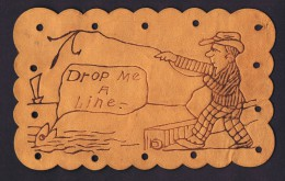 Soft Leather   Fish In Water To Fisherman On Deck ZDrop Me A Line»  Used 1906   -  Cuir Mou - Other